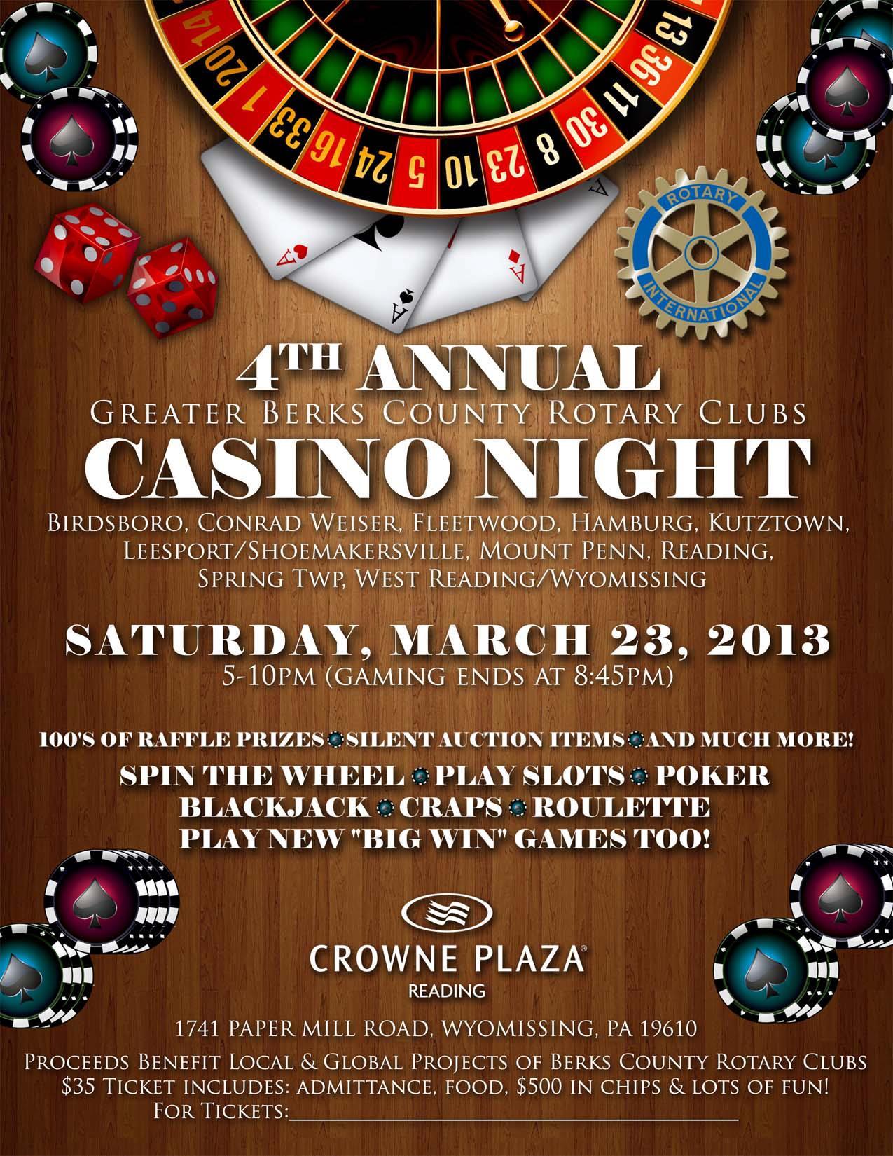 Rotary casino night paradise beach resort and casino